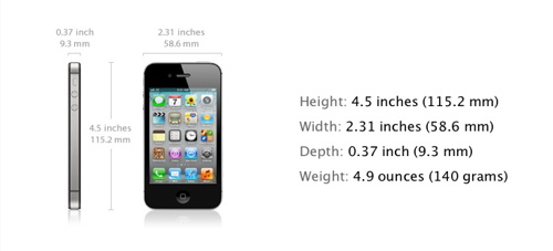iphone 4 dimensions what s different about the iphone 4s specs the 10851