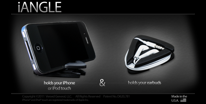 iangle combination stand and earbud holder