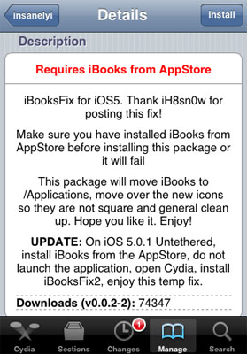How to Fix iBooks Error After iOS 5 0 1 Jailbreak | The iPhone FAQ