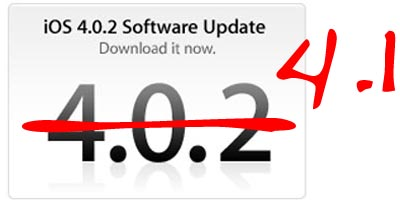 apple iphone ios 4.1 firmware update
