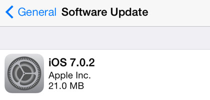 iOS 7.0.2 update security