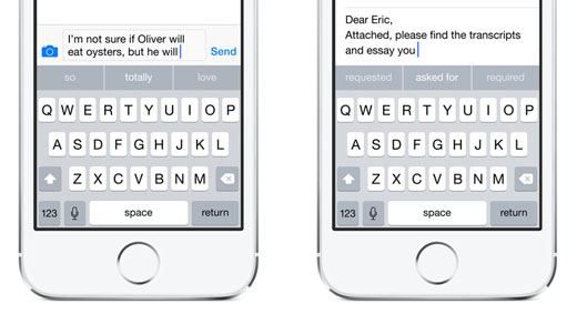 iOS 8 keyboard third party improvements 2