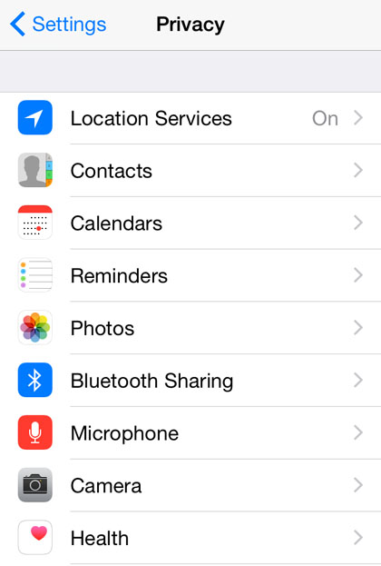 "privacy iOS 8 iPhone location""  title="