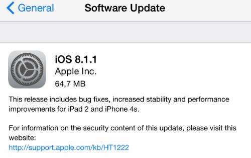 ipad 2 5.0.1 software update