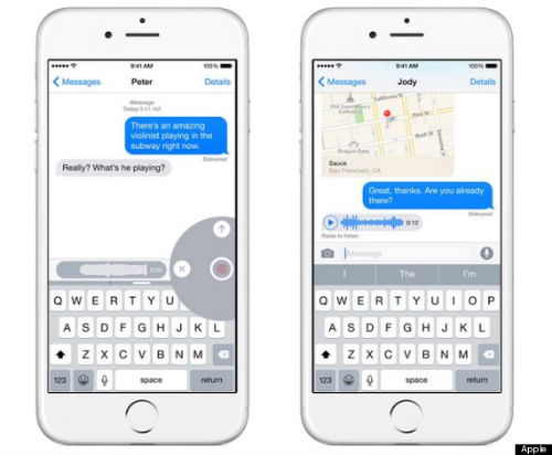 How do i send voice text on iphone 6