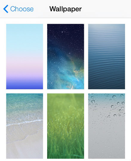 ios 7 brings dynamic and panoramic wallpapers to the