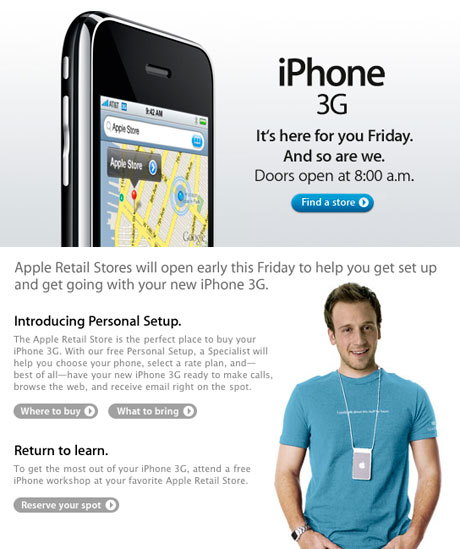 iphone 3g on july 11