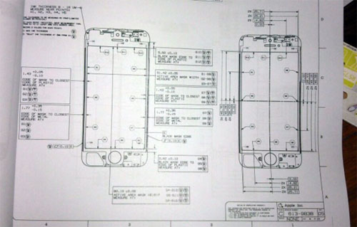 iPhone 5 leaked plans