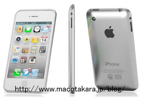 apple iphone 5 rendering aluminum back