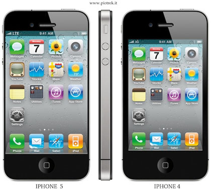 apple iphone 5 mockup four inch screen