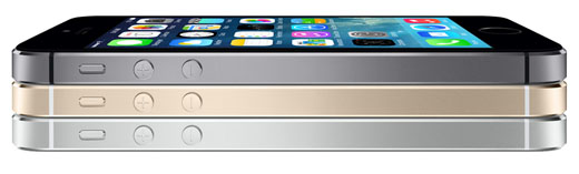 Apple iPhone 5s three colors