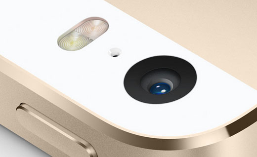 iSight camera iPhone 5s gold