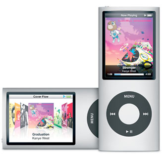 iPod nano fourth generation curved screen