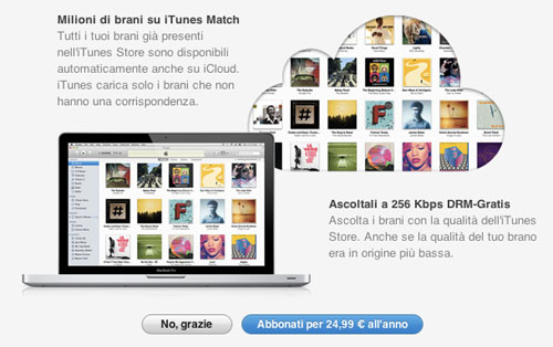 iTunes Match Italy