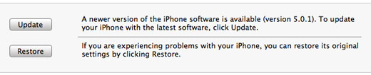 iTunes iPhone restore