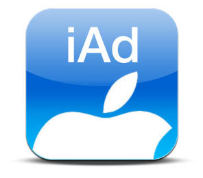 apple iphone iOS 4 iAd logo