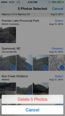How to quickly delete multiple photos from your camera roll.