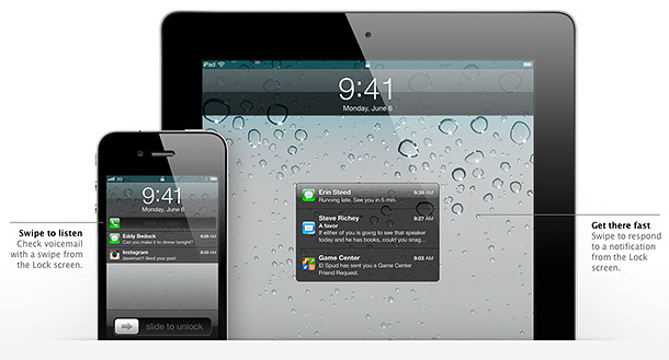 ios5 notification center lockscreen