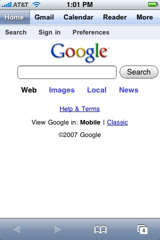 new google iphone interface