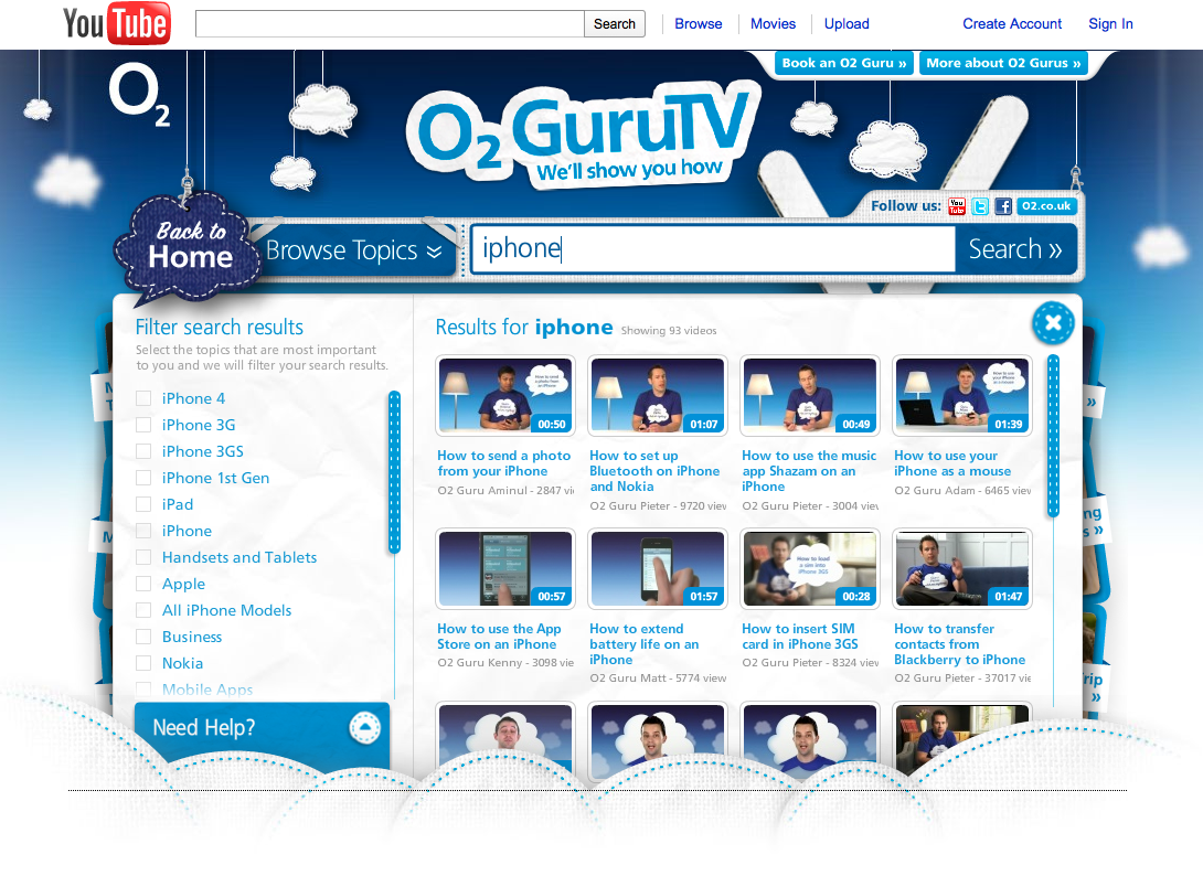 o2 guru tv youtube