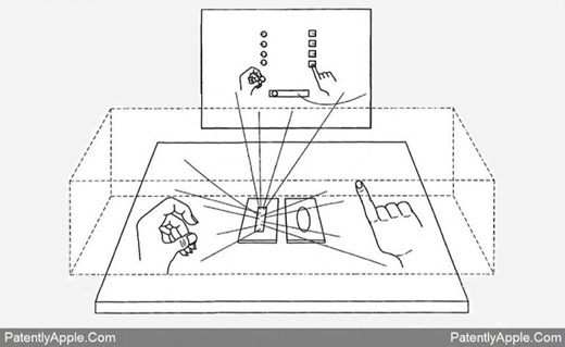 Apple patent 3D projection manipulation