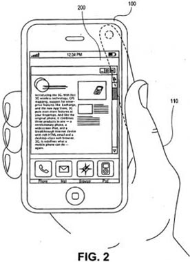 apple iphone patent alternative input