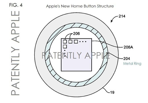 iPhone 5S home button patent