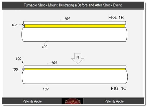 Apple Patent shock protection
