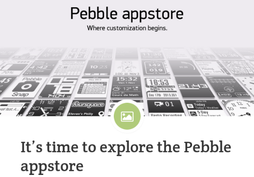 So the New Pebble 2.0 and the Appstore for IOS