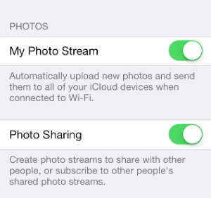 iOS 7 Photo Stream