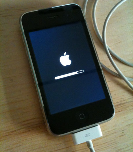 iphone stuck on update how can i downgrade my iphone firmware from ios 4 3 4 to 4 2874