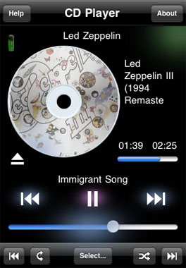 CD Player iPhone app
