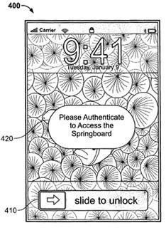 apple iphone patent security fingerprint biometric
