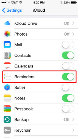 How to share reminder lists in iOS 8