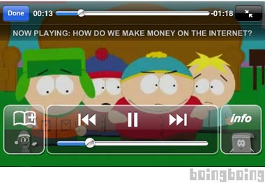 south park application banned iphone