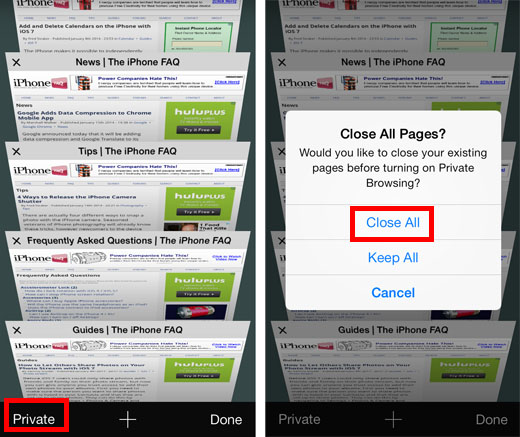 Close All Tabs Mobile Safari 2