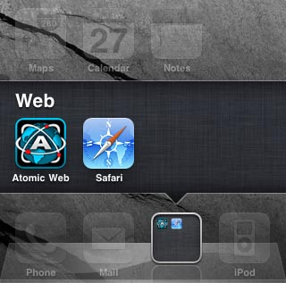 apple iphone ios 4 folders