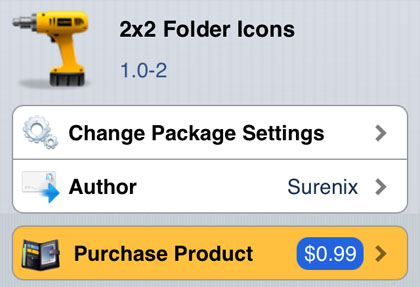 2x2 Folder Icons jailbreak tweak iOS