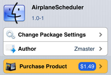 AirplaneScheduler tweak iOS