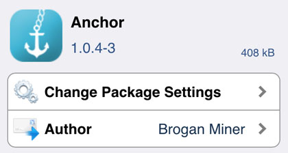 "iOS 8 Anchor Cydia""  title="