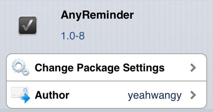 AnyRemider tweak Cydia iOS