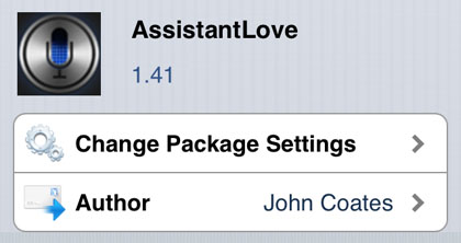 Cydia tweak AssistantLove