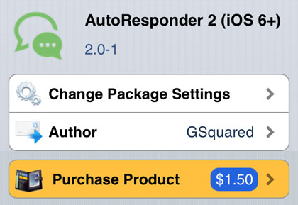 AutoResponder 2 jailbreak tweak iOS