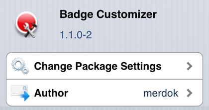Badge Customizer tweak Cydia iOS