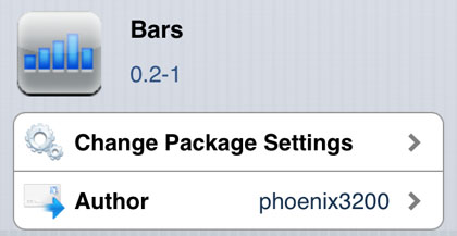Bars tweak Cydia iOS
