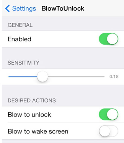 iOS 7 jailbreak BlowToUnlock