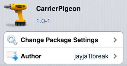 CarrierPigeon tweak Cydia iOS