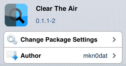 Clear The Air tweak Cydia iOS