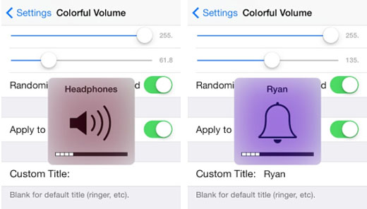iOS 7 jailbreak ColorfulVolume