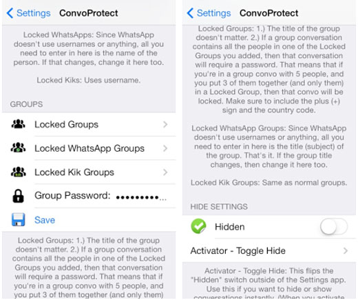 iOS 7 jailbreak ConvoProtect demo